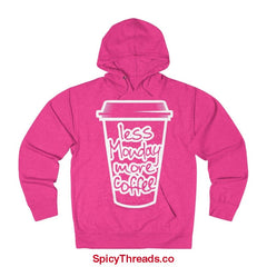 Less Monday More Coffee Hoodie - Heliconia Heather / Xs - Hoodie