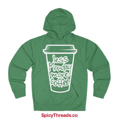 Less Monday More Coffee Hoodie - Kelly Heather / Xs - Hoodie