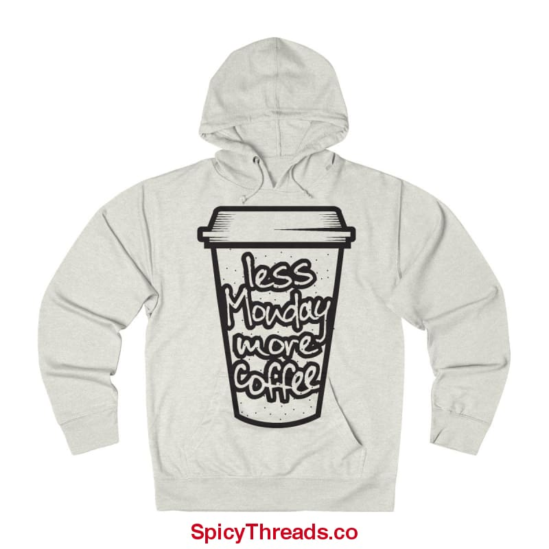 Less Monday More Coffee Hoodie - Oatmeal Heather / L - Hoodie