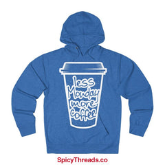Less Monday More Coffee Hoodie - Royal Heather / Xs - Hoodie