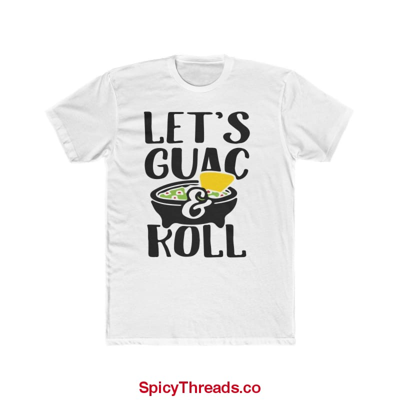 Lets Guac And Roll Premium Tee - Solid White / L - T-Shirt