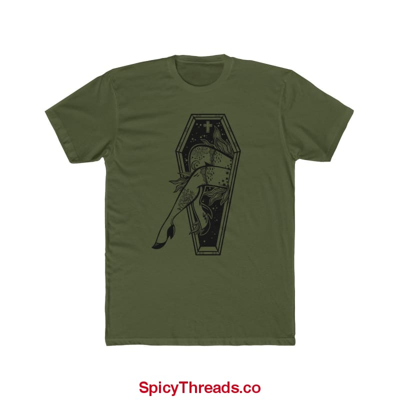 Lucky 13 Premium Tee - Solid Military Green / Xs - T-Shirt