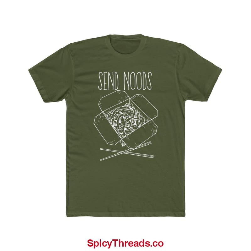 Send Noods Premium Tee - Solid Military Green / Xs - T-Shirt