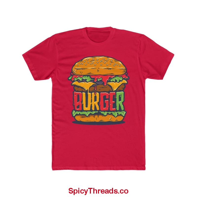 The Big Burger Premium Tee - Solid Red / Xs - T-Shirt