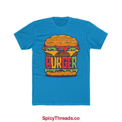 The Big Burger Premium Tee - Solid Turquoise / Xs - T-Shirt