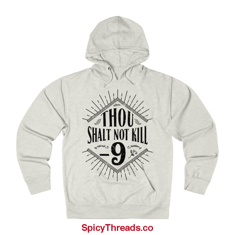 Though Shall Not Kill -9 Linux Hoodie - Oatmeal Heather / L - Hoodie