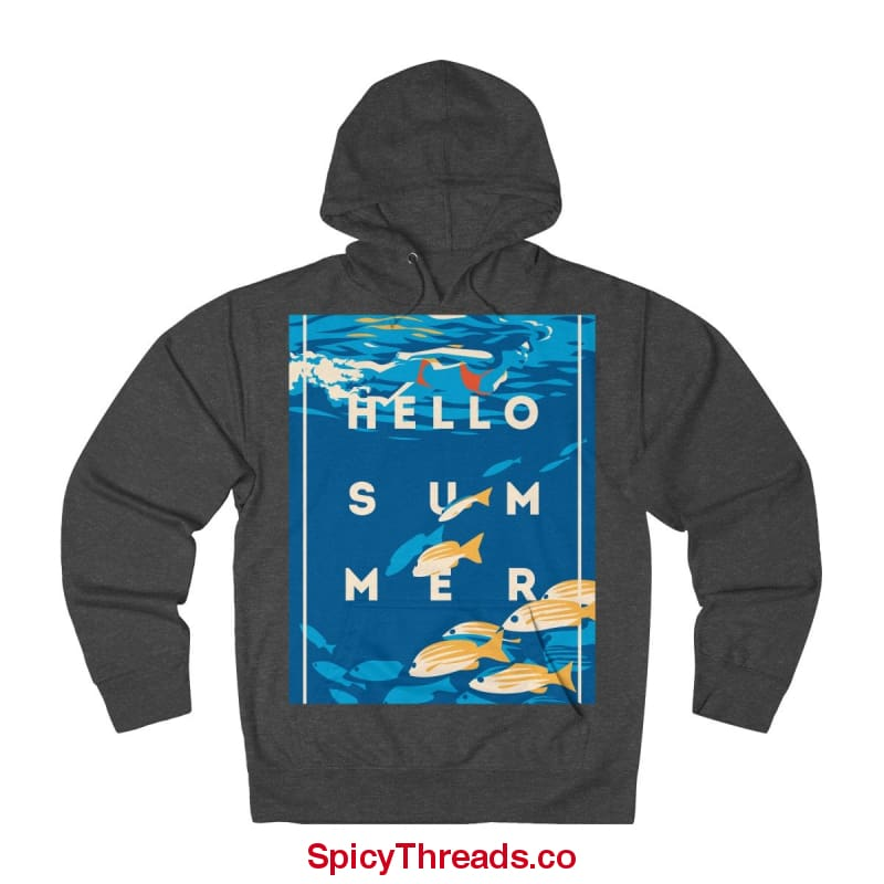 Under The Waves - Hello Summer Hoodie - Charcoal Heather / Xs - Hoodie