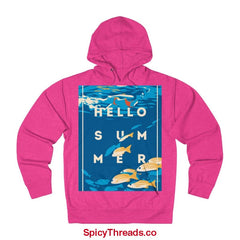 Under The Waves - Hello Summer Hoodie - Heliconia Heather / Xs - Hoodie