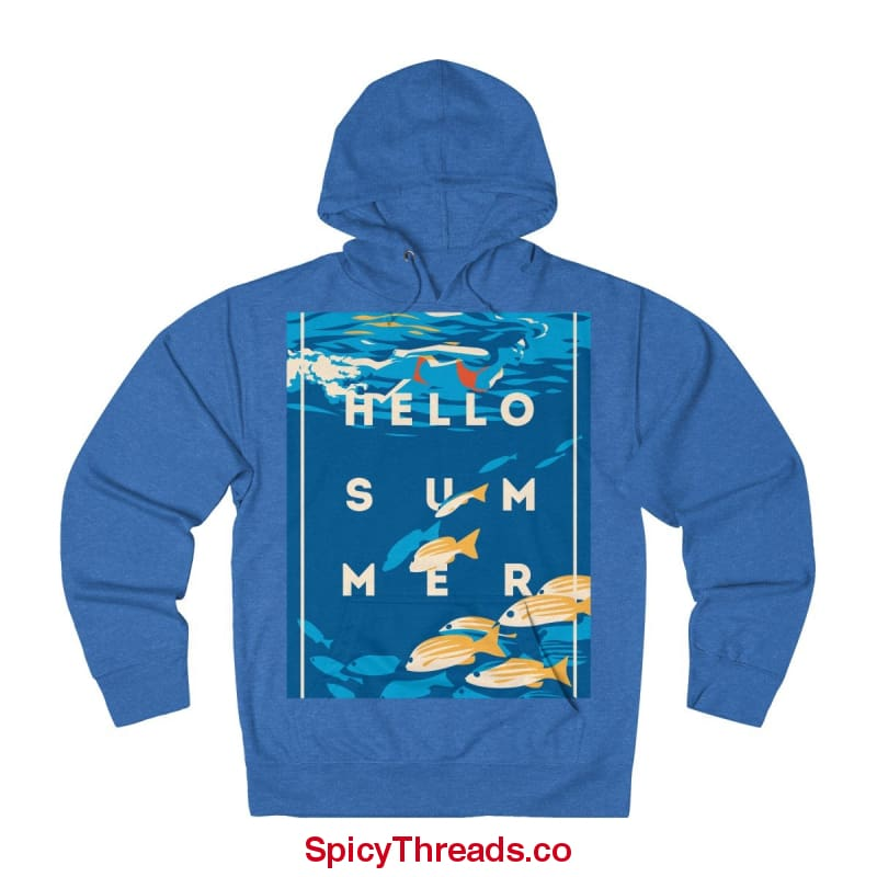 Under The Waves - Hello Summer Hoodie - Royal Heather / L - Hoodie
