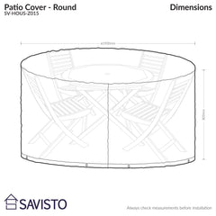 Savisto Round Patio Cover