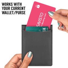 Savisto Pink RFID Blocking Card