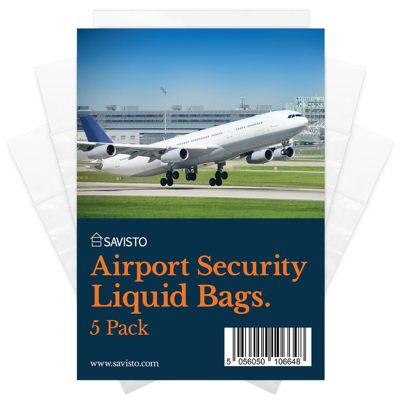 Savisto Airport Security Liquid Bags