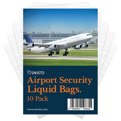 Savisto Airport Security Liquid Bags 5 Pack