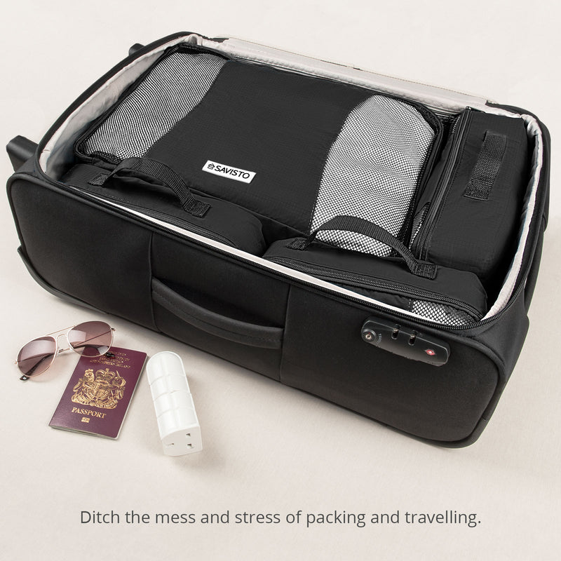 Savisto Black Packing Cubes