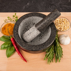 Savisto Granite Pestle and Mortar