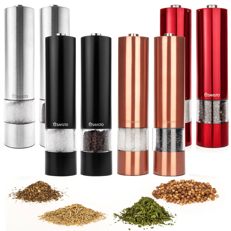 Savisto Stainless Steel Salt & Pepper Mills