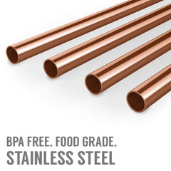 Savisto Copper Metal Straws