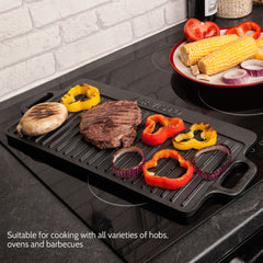 Savisto Cast Iron Reversible Griddle Plate