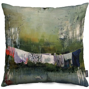 As If Under Water Throw Pillow Cover
