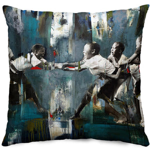 The Tug of War Throw Pillow Cover