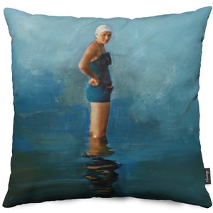 Waiting on Poseidon Throw Pillow Cover