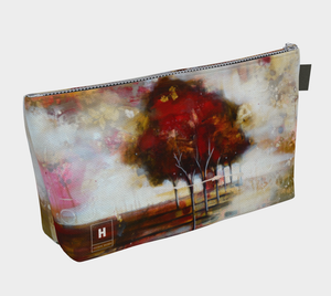 HH Red Tree line Makeup Bag