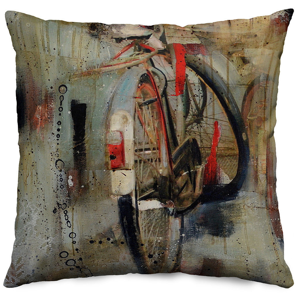Bike Throw Pillow Cover