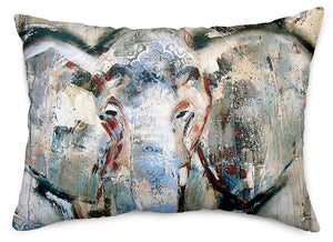 Tusker Throw Pillow Cover