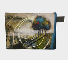 Load image into Gallery viewer, HH  Blue Swirl Tree Clutch