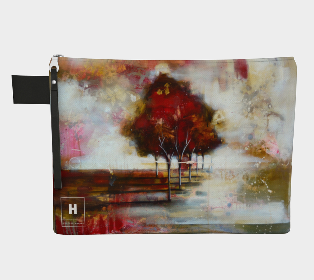 HH Red Tree Line Clutch