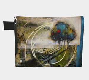 HH  Blue Swirl Tree Clutch