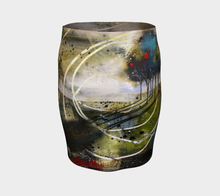 Load image into Gallery viewer, Blue Swirl Fitted Skirt