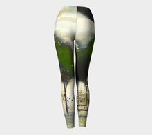 Load image into Gallery viewer, Green Tree Line Yoga Pants