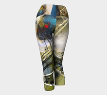 Load image into Gallery viewer, Blue Swirl Yoga Capris