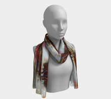 Load image into Gallery viewer, HH Red Tree Line Long Scarf