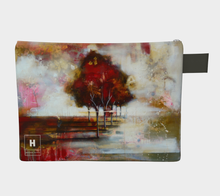 Load image into Gallery viewer, HH Red Tree Line Clutch