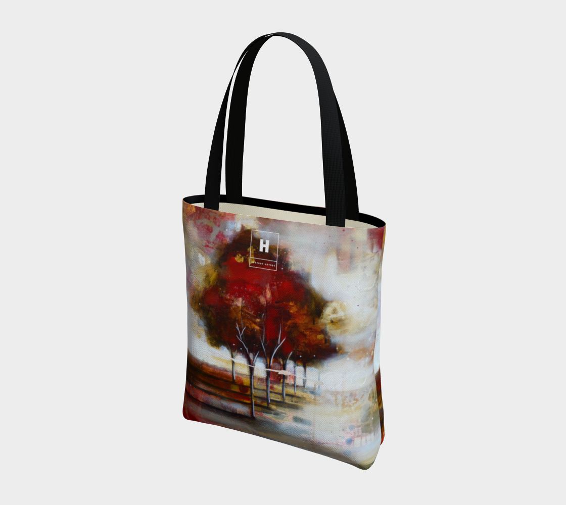 HH Red Tree Line Tote