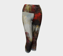 Load image into Gallery viewer, Red Tree line Yoga Capri