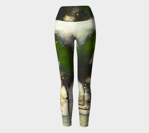 Green Tree Line Yoga Pants