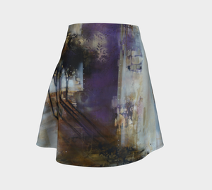Purple Trees Flare Skirt