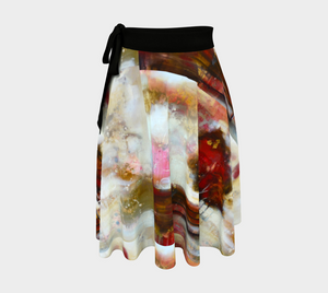 HH Red Tree Line Wrap Skirt