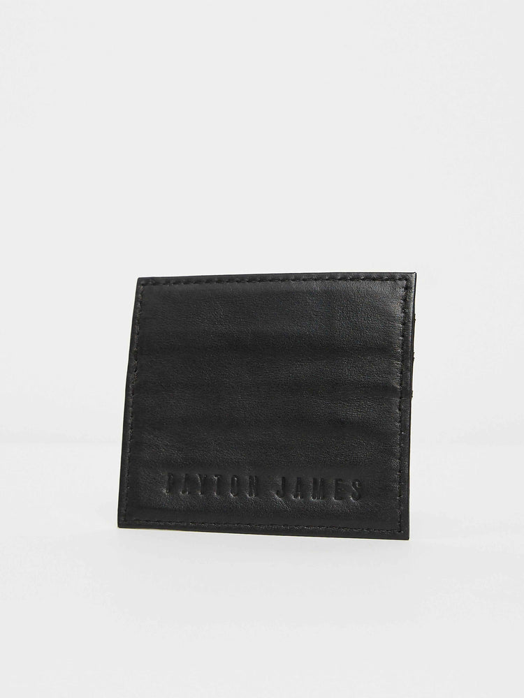 Black leather card Case Holder Payton James