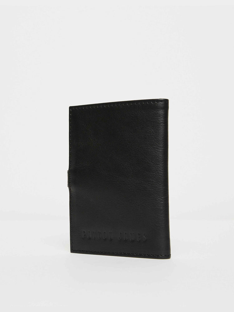 Black Leather Travel wallet -Passport wallets by payton james- leather bags nashville