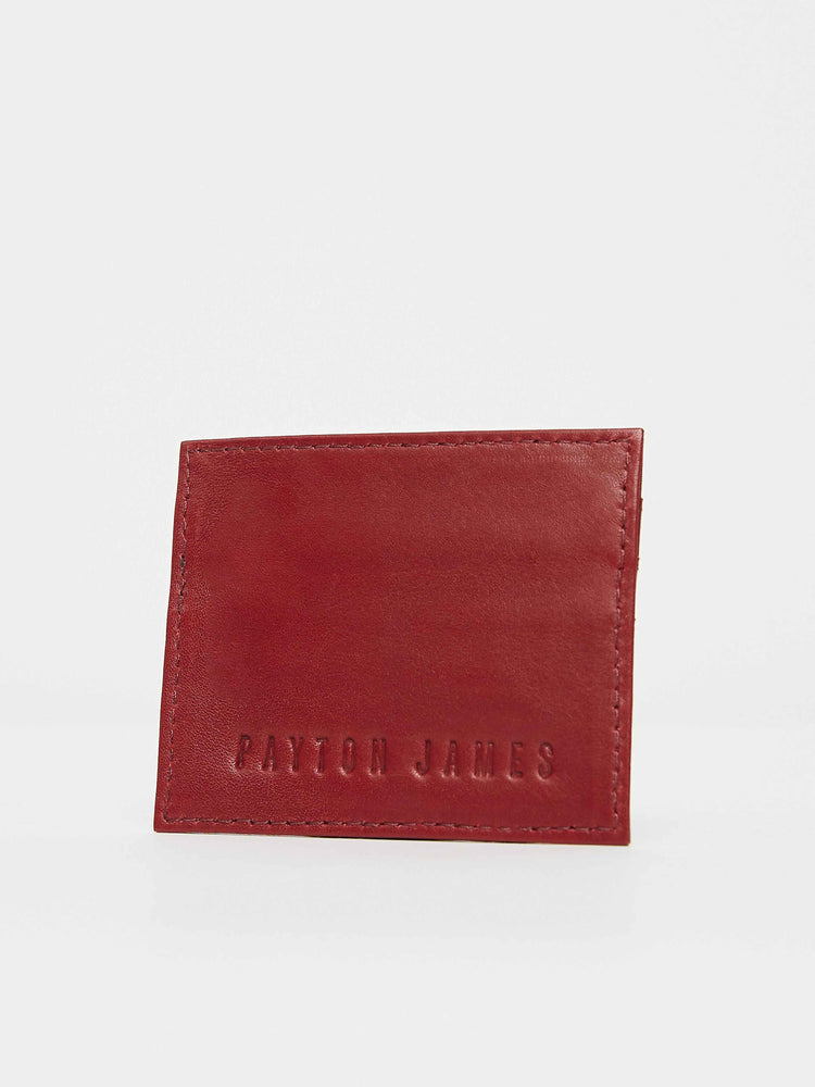 Red Cabernet leather card Case Holder Payton James