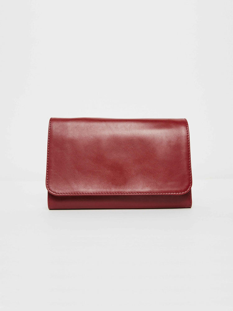 Travel Wallet- Cabernet