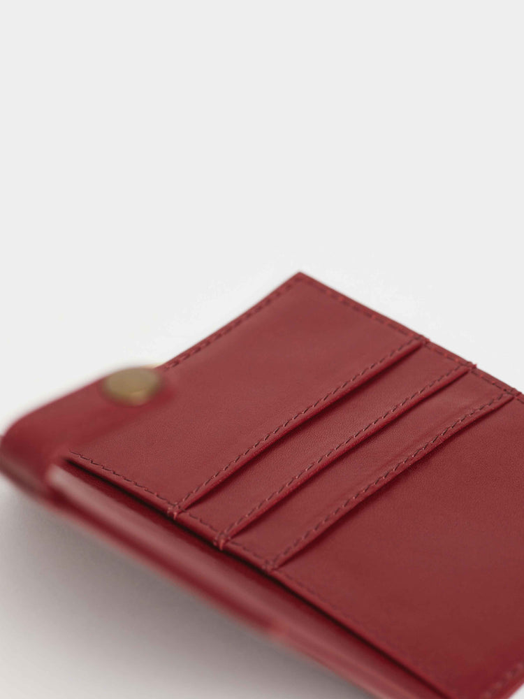 Cabernet Red Leather Travel wallet -Passport wallets by payton james- leather bags nashville