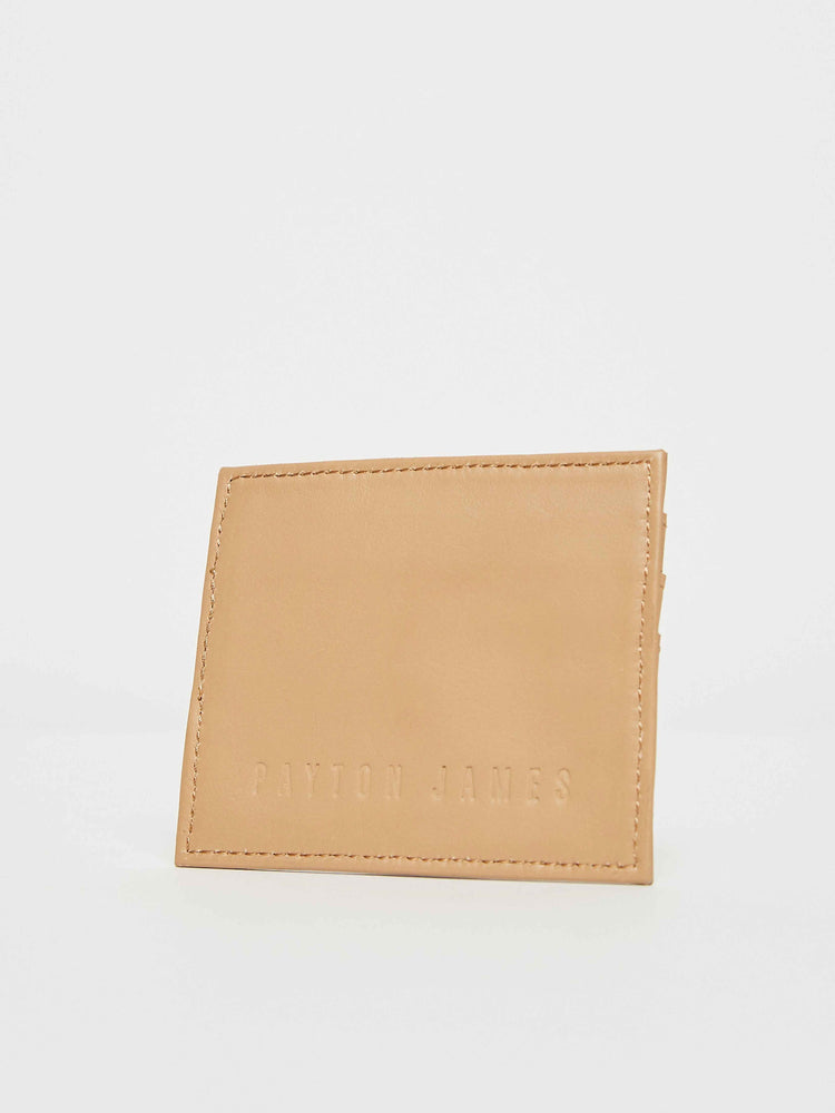 Cappuccino Tan leather card Case Holder Payton James