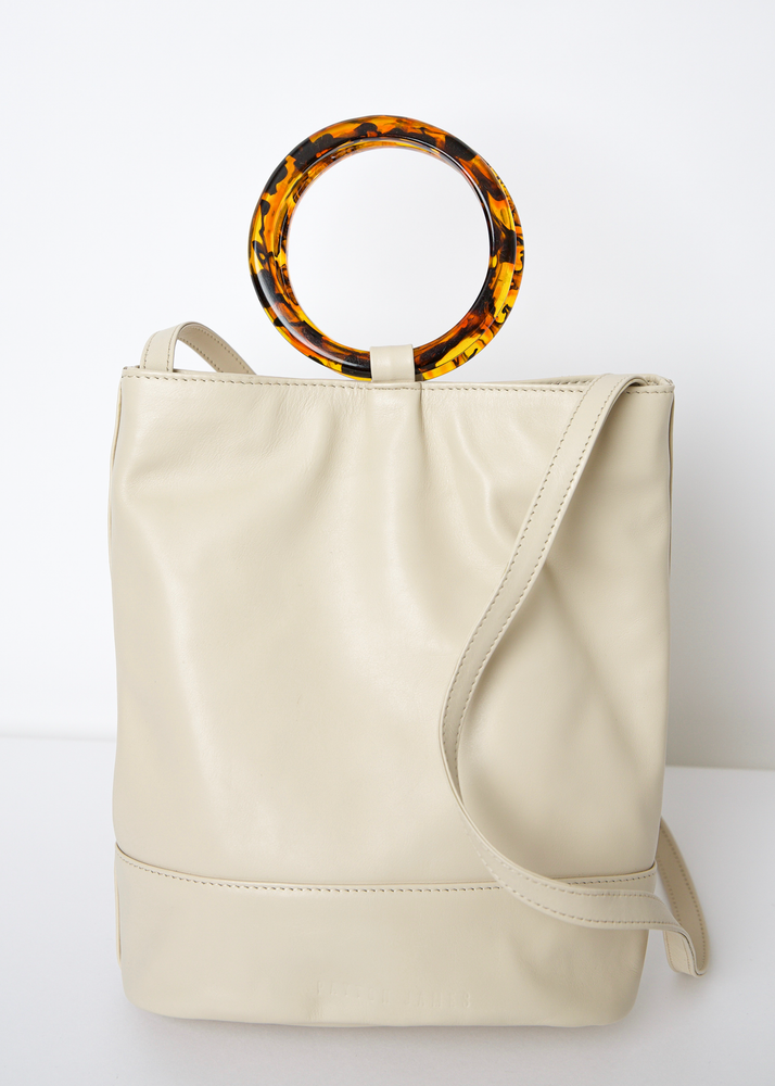 The Dolly Bucket Tote in White