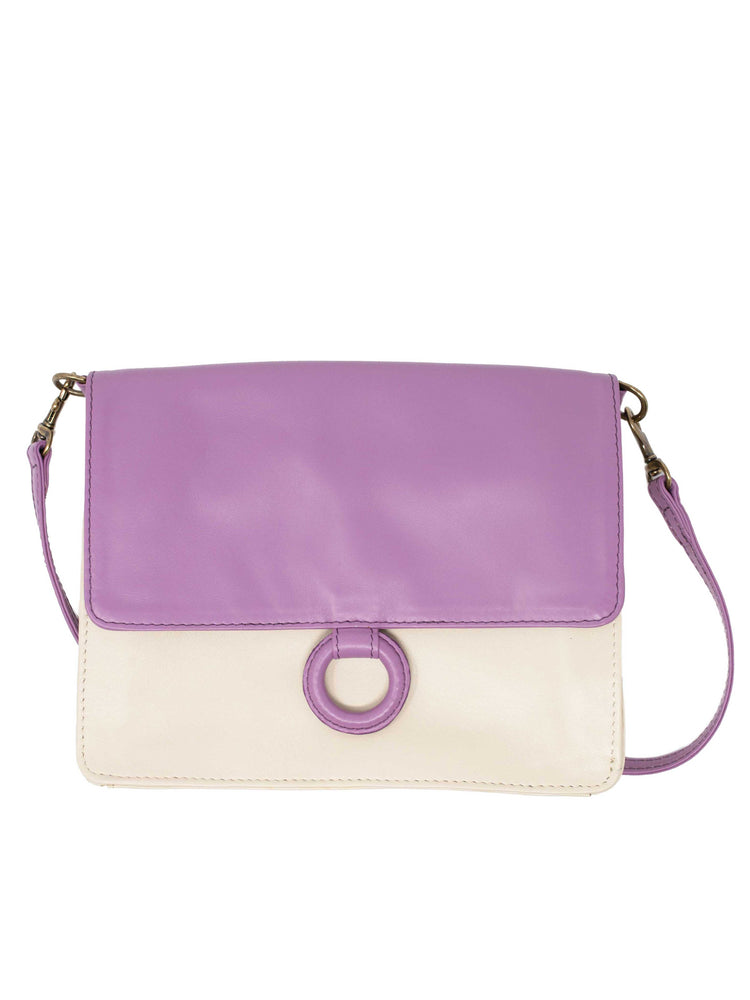 Lavender Leather Crossbody Wallet bag by Payton James Nashville Handbag designer
