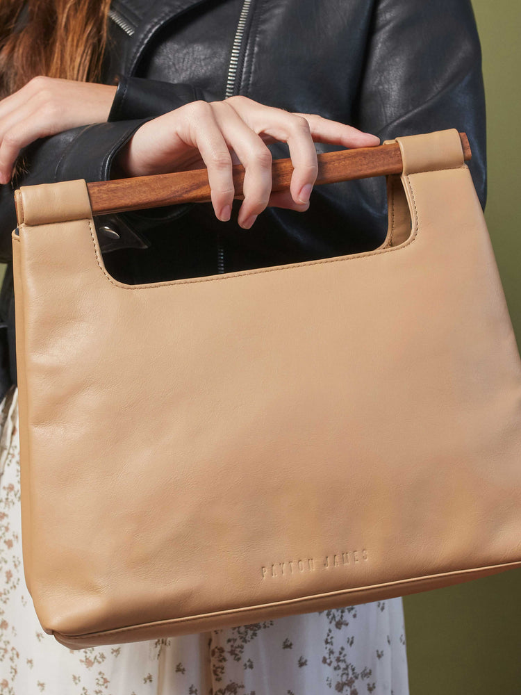 Leather-Tote-Handbag-Wood-Cut-Out-Tote-by-Payton-James-Cappucino-Tan-Color